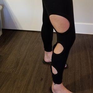 Pants - Black yoga leggings. Size 26-27